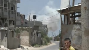 Moment of deadly airstrike in Gaza before ceasefire