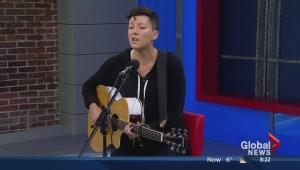 Ria Mae performs