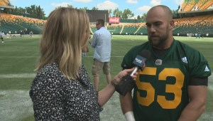 Checking in with Eskimos' long snapper at training camp