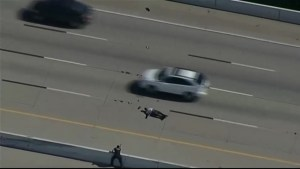 High-speed chase in Texas ends with suspect being tazered in middle of busy interstate