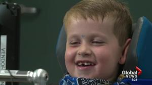 Alberta boy recognized for courage after tragic trampoline accident