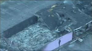 Aerial footage: Buildings left charred in wake of riots in Ferguson
