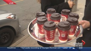 Giving away Coffee on the Morning News