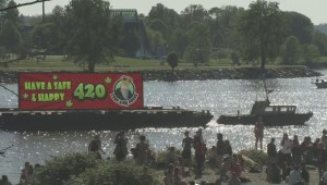 Thousands gather for 4/20 rally at Sunset Beach
