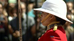 Canadian woman entrusted to guard the Queen