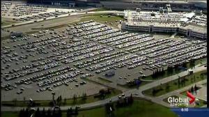 Abandoned vehicles at airport parking lot
