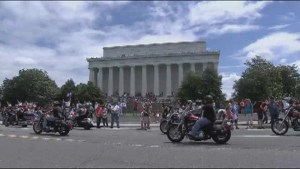 Donald Trump rallies veterans at annual Rolling Thunder event