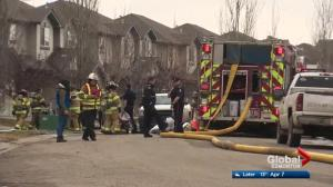 Duplex fire under investigation in south Edmonton's Rutherford area