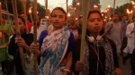 Torchlit demo in protest at murder of blogger