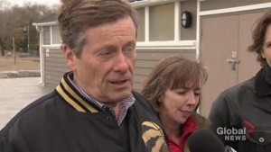 John Tory says the city responded well to potential flooding around GTA