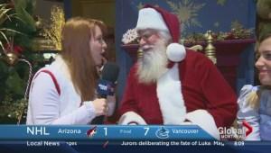 Jessica meets Santa Claus!