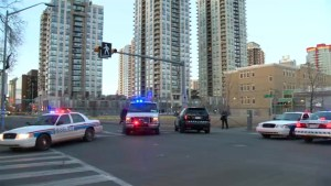 Bullets spayed across downtown Calgary street