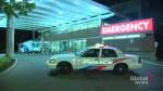 Gunshot victim walks to hospital