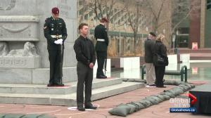 Edmontonians mark the anniversary of the Battle of Vimy Ridge