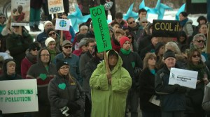 Thousands rally in Alberta pushing for international climate treaty