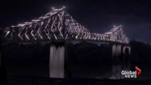 Jacques-Cartier Bridge lighting preview