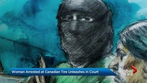 Woman accused of terror-inspired attack at Scarborough Canadian tire store tries to plead guilty in court