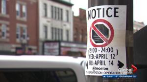 Edmonton clarifies game-day parking ban