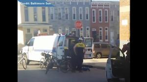 New video shows moment when Freddie Gray was shackled, handcuffed