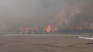 Raw:  Wildfire burning in La Ronge