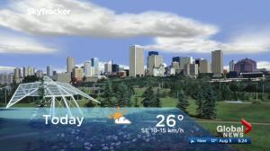 Edmonton early morning weather forecast: Thursday, August 3, 2017