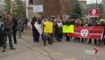 Protesters gather at Queen's Park demanding lower electricity rates