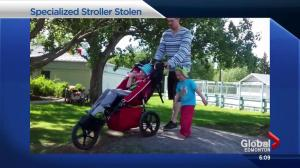 Edmonton family desperate to get specialized stroller back after it was stolen