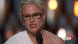Oscar winner Patricia Arquette calls for pay equality in acceptance speech