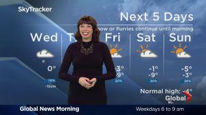 Global News Morning weather forecast: Wednesday, February 15
