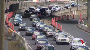 Quebec transport minister tours Turcot Interchange