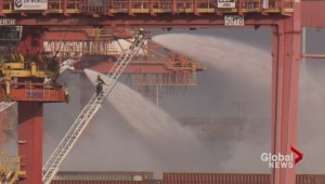 4 Alarm Fire at Port Metro Vancouver