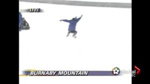 Meteorologist Mark Madryga's sledding blooper