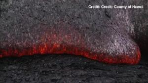 Raw video: Lava flow on the move again in Hawaii