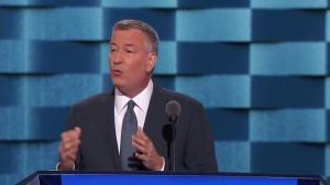 New York City Mayor Bill de Blasio blasts Donald Trump over his treatment of women during DNC