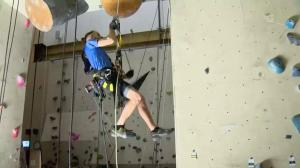 Competitive rock climbing in Saskatoon