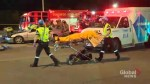 5 injured when car hits back of TTC bus