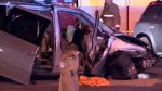 3 injured, 1 in critical condition after two-vehicle crash in Toronto's east end