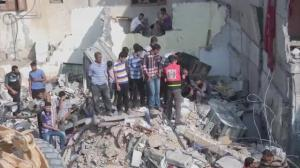 Raw video: Gaza residents wake up to devastated homes, communities