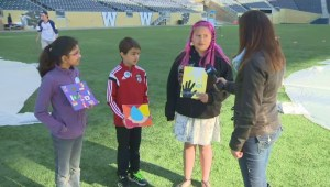 Winnipeg students' artwork inspired by UN rights of the child