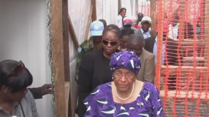 Liberian President opens massive new Ebola treatment facility
