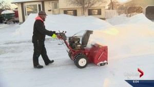 No thanks, just a warning for man clearing snow from a city street