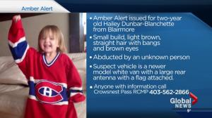 Amber Alert still in place Monday night after two-year-old abducted