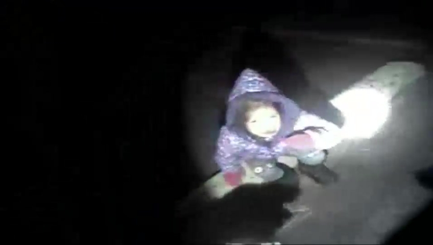 Cop finds cold, scared toddler alone in parking lot after carjacking