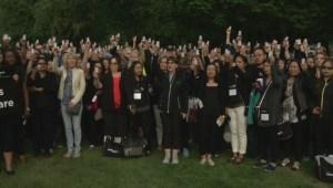 Nurses hold 'vigil' outside Burnaby care home