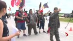 First Nations protest along Highway 1 east of Winnipeg causes lengthy delays for drivers