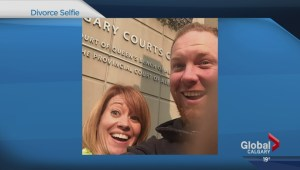 Calgary couple's #divorceselfie goes viral