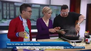 Chef Graham Elliot whips up some 15 minute meals
