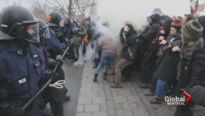 Quebec protests end with violent confrontation