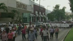 Raw video: Protesters in Mexico demand answers regarding missing students