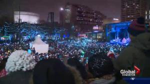Crowds swelled in downtown Edmonton for 2017 New Year's festivities